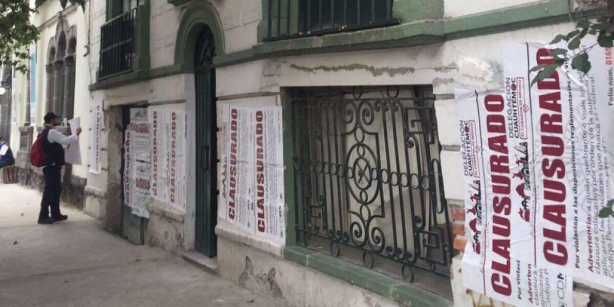 Clausuran cuatro obras en la Roma por incumplir reglamento
