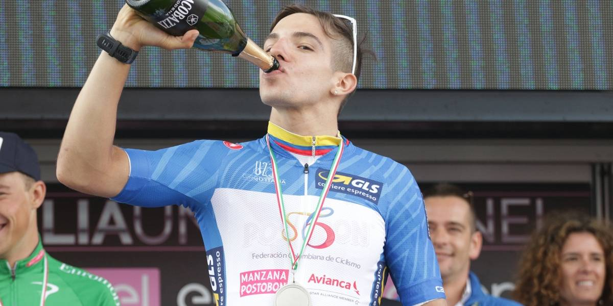 Álvaro Hodeg, campeón de las metas volantes en el Giro de Italia Sub-23
