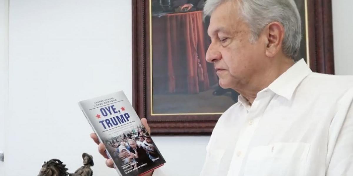 """""""Oye Trump"""" López Obrador presenta libro """"para defender a migrantes del mundo"""""""