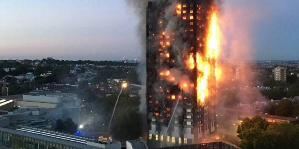 Aumentan a 17 los muertos por incendio en la Torre Grenfell en Londres