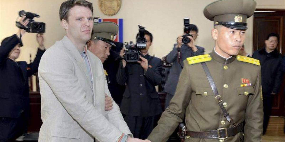 """Corea del Norte afirma que liberó al estudiante de EEUU que se encontraba en coma por """"motivos humanitarios"""""""