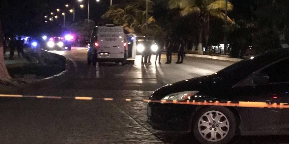 Balacera en centro de Cancún deja un muerto y dos lesionados