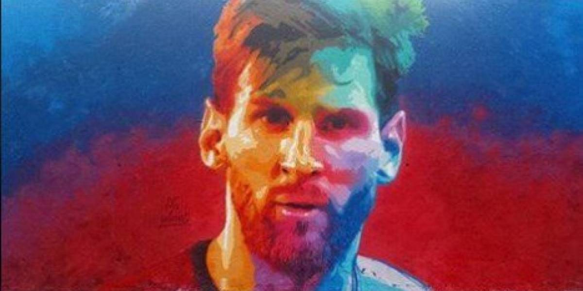 Sorprendente mural de Messi en las calles de Barcelona