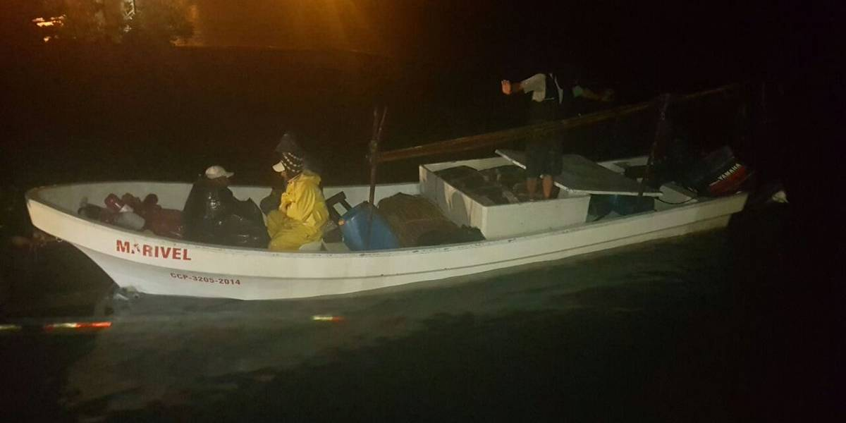 Interceptan embarcación con cocaína en aguas del Pacífico