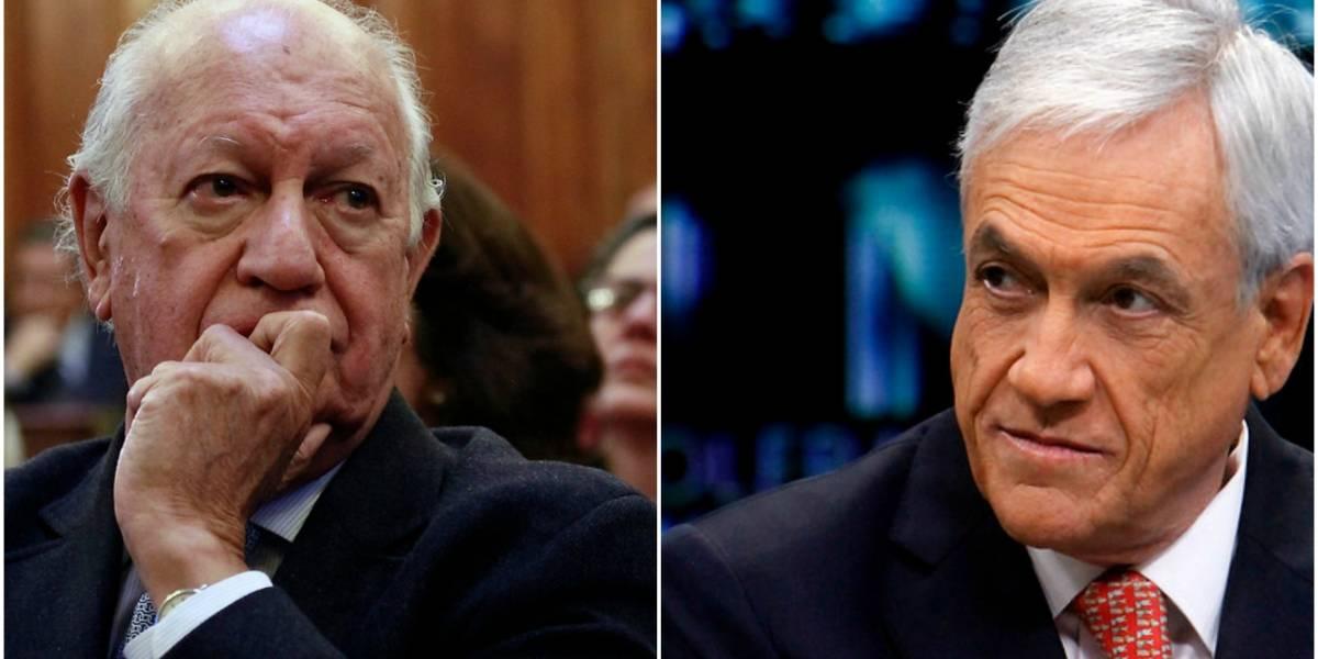 """El """"coqueteo"""" entre Sebastián Piñera y Ricardo Lagos que sorprendió a Twitter"""