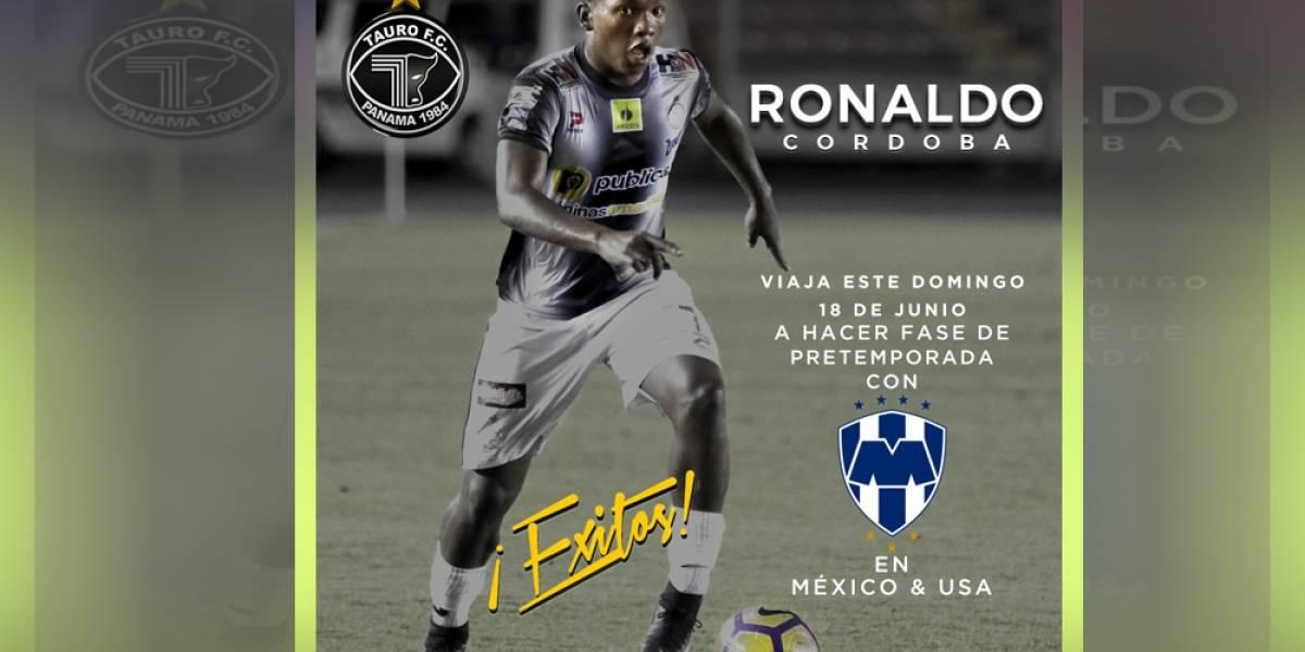Ronaldo Córdoba hará pretemporada con Rayados