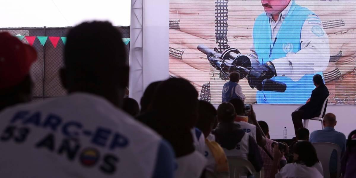 Misión de ONU en Colombia confirma que tiene el 60 % de las armas de las Farc