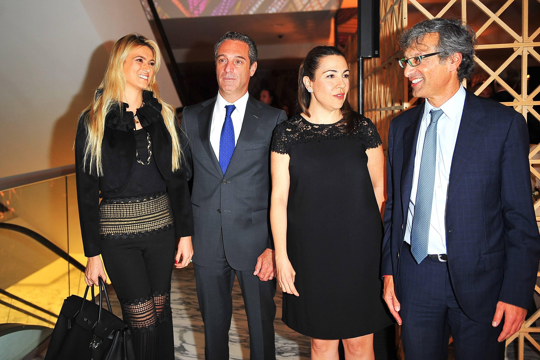 María Elena Torruco, Carlos Slim, Cristina Pineda y Alfonso Salem Slim JDS