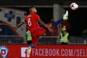 Arturo Vidal (Chile): Pilar clave en el mediocampo de Bayern Munich y también en Chile. Su entrega, garra y fuerza lo hacen un jugador único en su puesto y es el alma del equipo de Juan Antonio Pizzi / imagen: Agencia UNO