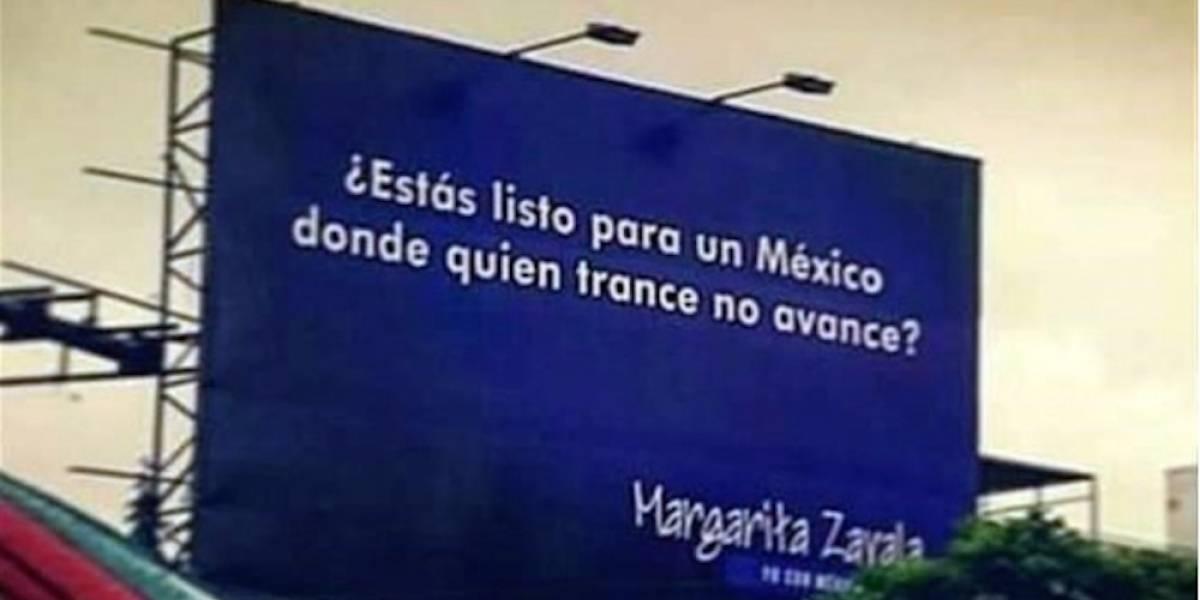 Margarita Zavala se disculpa por error ortográfico en uno de sus espectaculares