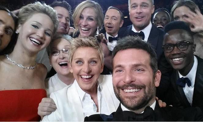 La selfie de los Oscar en 2014.