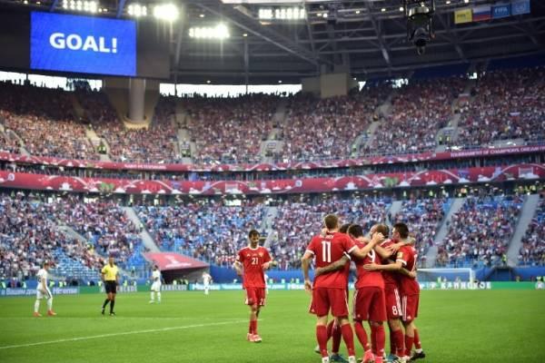 Rusia festejó en el estreno / AFP
