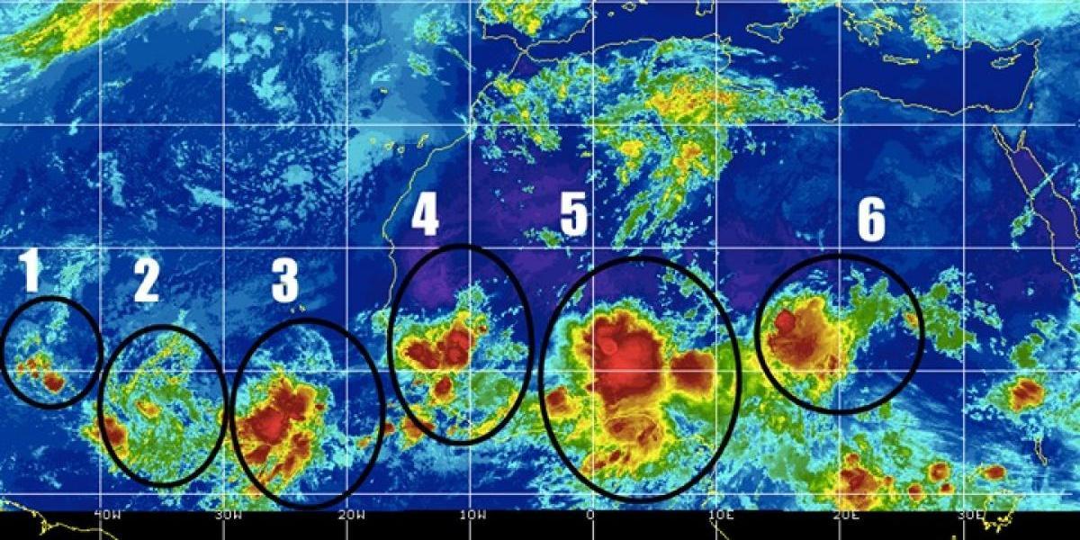 Cuatro ondas tropicales podrían afectar la Isla