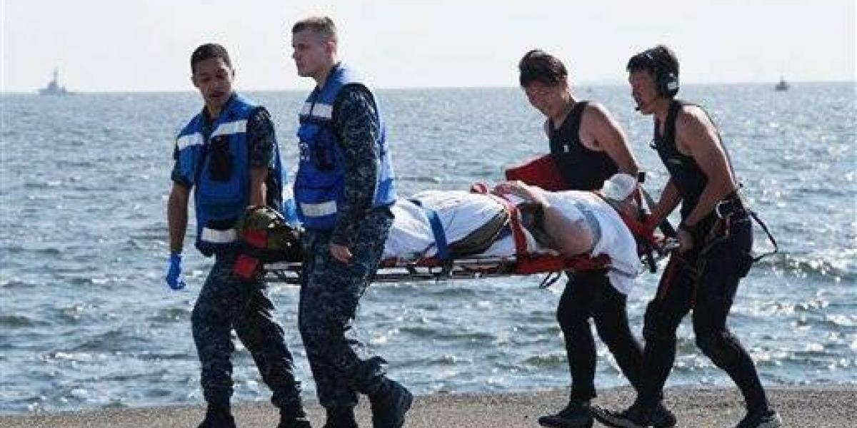 Hallan cadáveres de marinos dentro de buque que chocó