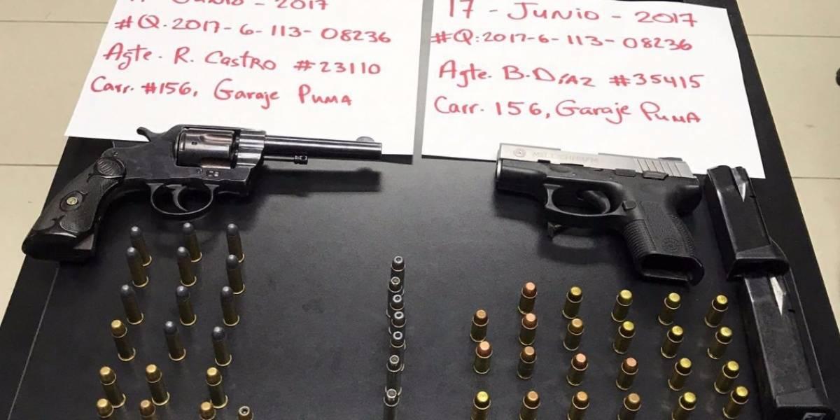 Policía arresta a dos jóvenes por armas en Caguas