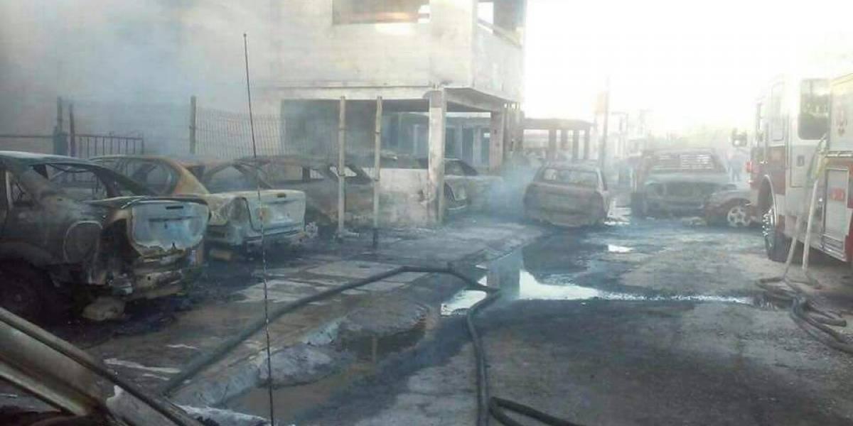 Pipa con combustible robado estalla en Tamaulipas; hay 10 casas y 16 vehículos dañados