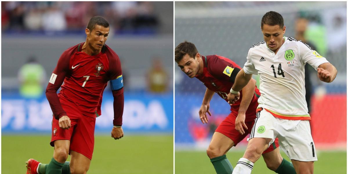 Frente a frente: Cristiano Ronaldo vs. 'Chicharito' Hernández en la Confederaciones