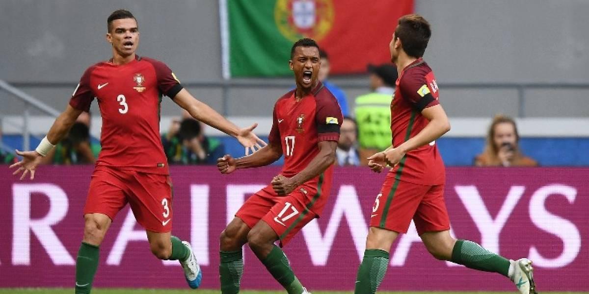 FOTO. La imagen que se vio en el estadio en el gol anulado a Portugal