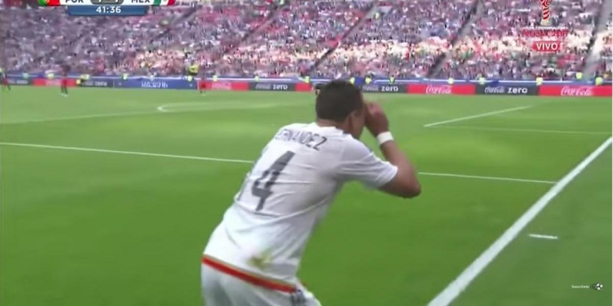 VIDEO: Gol de Chicharito ante Portugal fue dedicado a sus detractores ¡mira cómo lo hago!