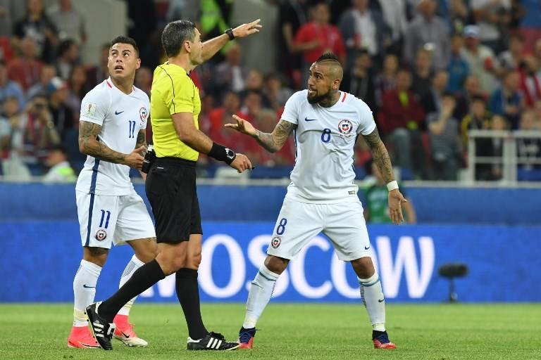 Gol anulado a Chile en la Copa Confederaciones