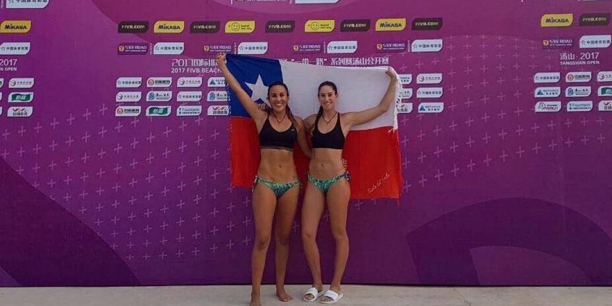 Dupla chilena Rivas-Mardones hizo historia en el Circuito Mundial de Voley Playa