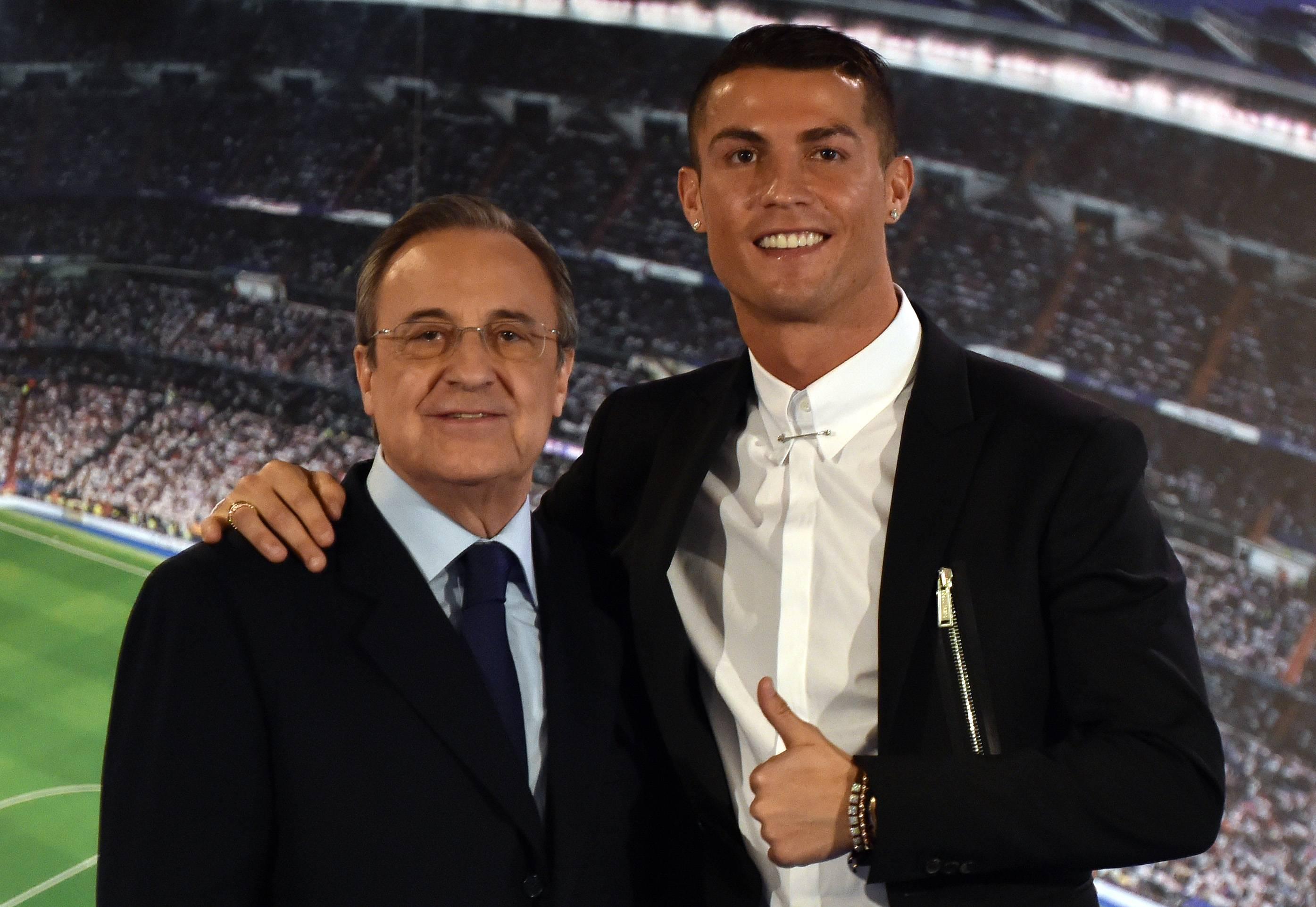 Florentino Pérez fue quien llevó al portugués al Real Madrid en 2009.