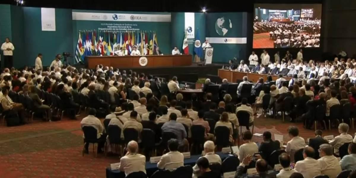 Peña Nieto inaugura la 47 Asamblea General de la OEA con llamado a superar desafíos de la región