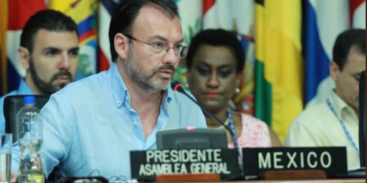 Eligen a Luis Videgaray como presidente de la Asamblea General de la OEA