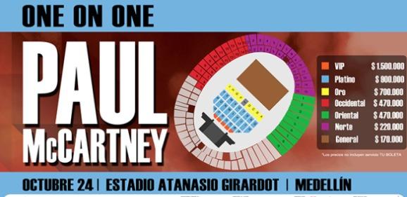 Resultado de imagen para paul mccartney en colombia 2017