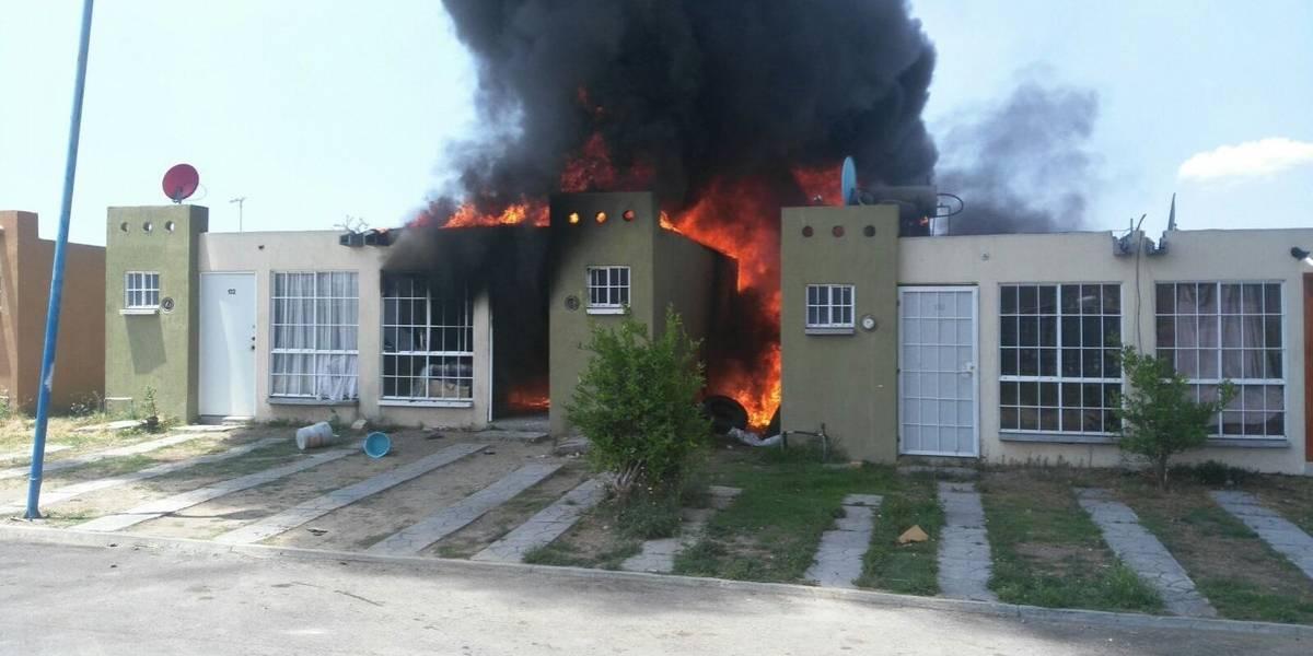 Incendio por combustible robado devasta dos fincas en Tlajomulco