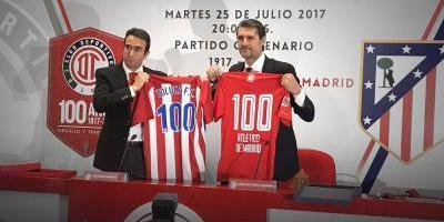 Oficial: Toluca enfrentará al Atleti por su Centenario