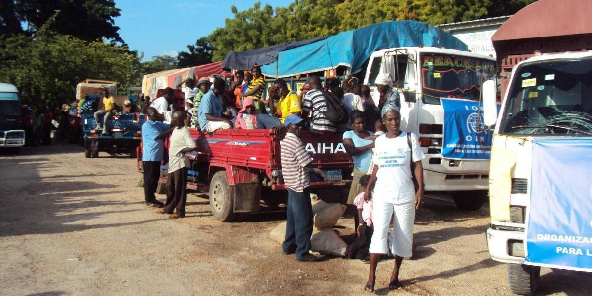 Migración, más de 320 haitianos regresan a su país de forma voluntaria