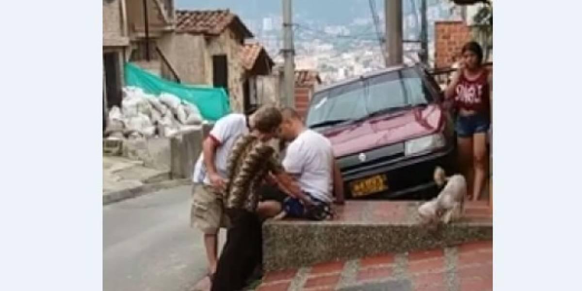 ¡Aterrador! Un perro es castrado en plena calle en Itagüí