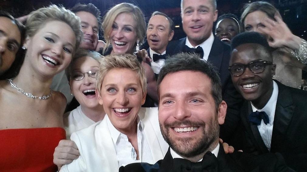 Ellen Degeneres logró romper récord con la selfie más retuiteada Foto: Especial