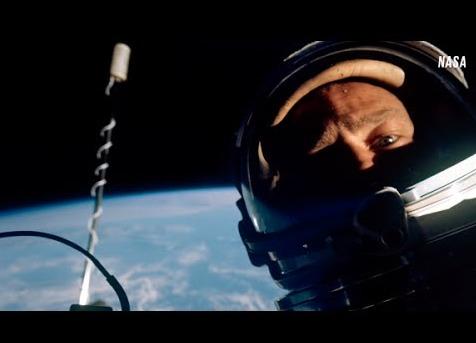 Esta fue la primera slefie tomada en el espacio, el autor: Buzz Aldrin Foto: NASA