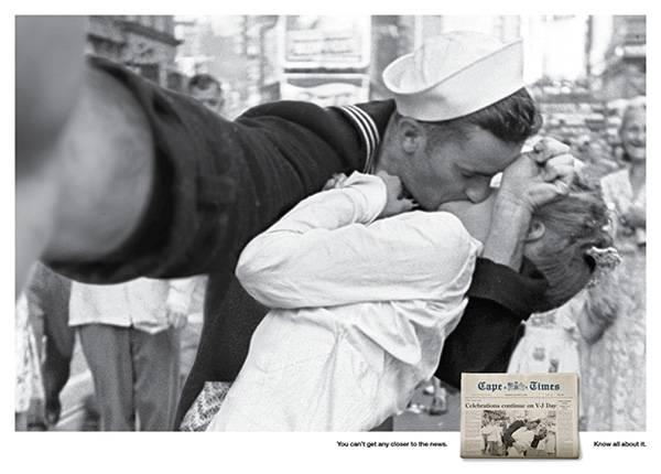 O famoso beijo na Times Square Reprodução/Cape Times