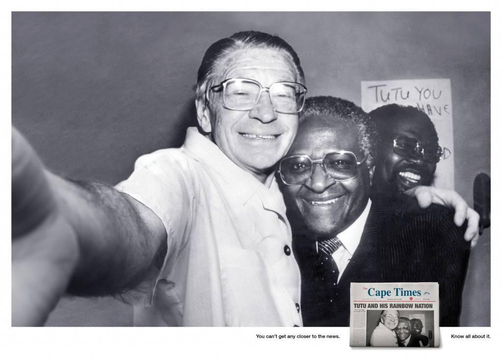 Tutu, ativista de direitos humanos na África Reprodução/Cape Times