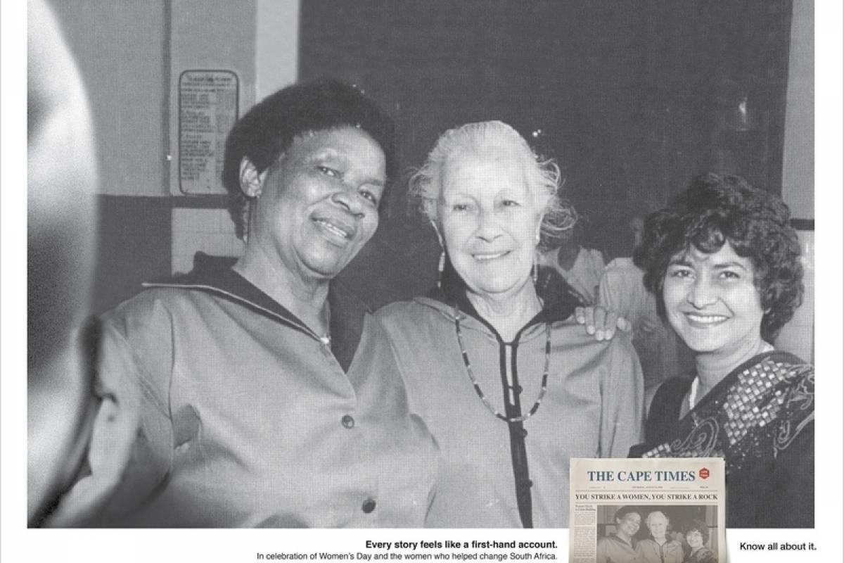 Mulheres que ajudaram a mudar a África do Sul Reprodução/Cape Times