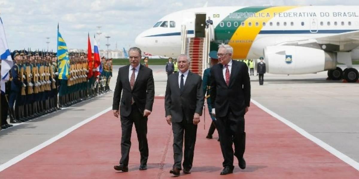 Temer chega a Rússia e Moscou confirma encontro com Putin