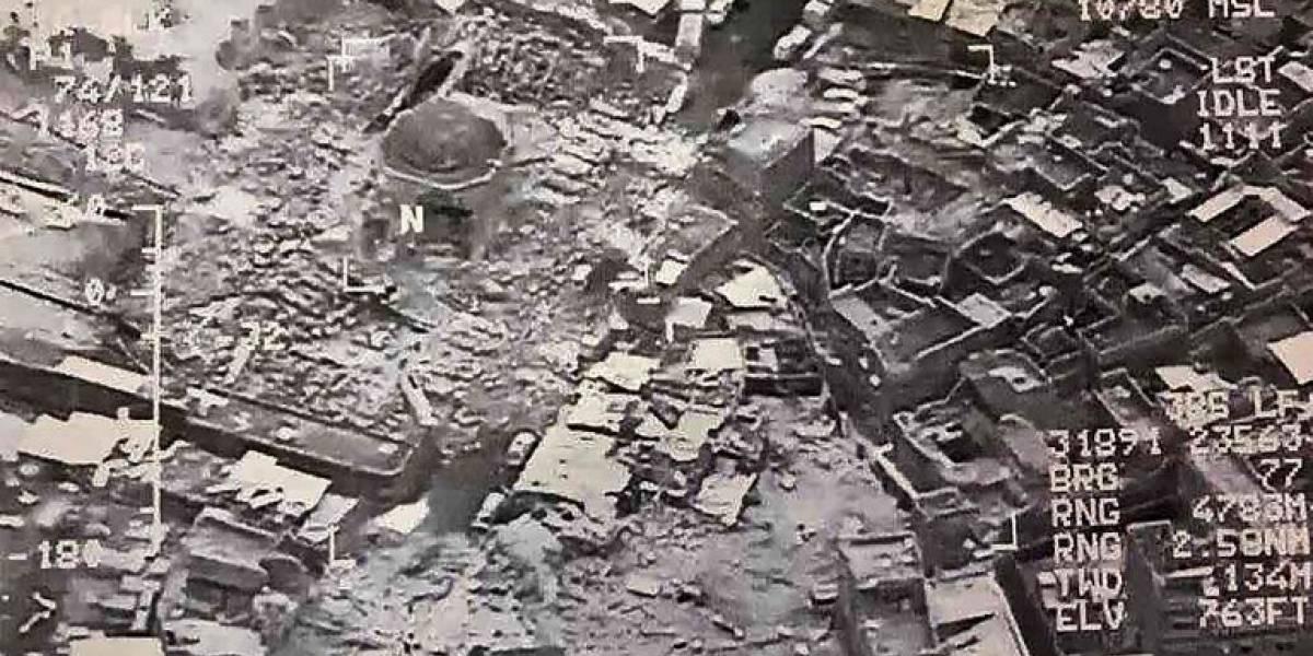 "Yihadistas destruyen histórica mezquita donde jefe del EI proclamó su ""califato"""