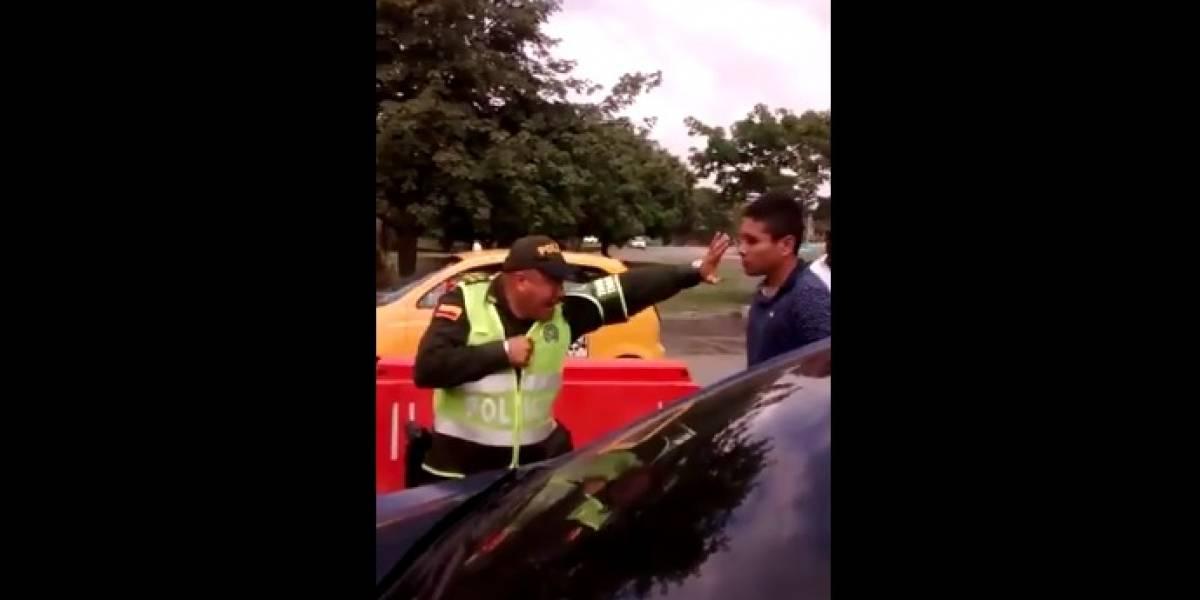 #Video ¡Como Gokú! Así enfrentó un policía a un joven