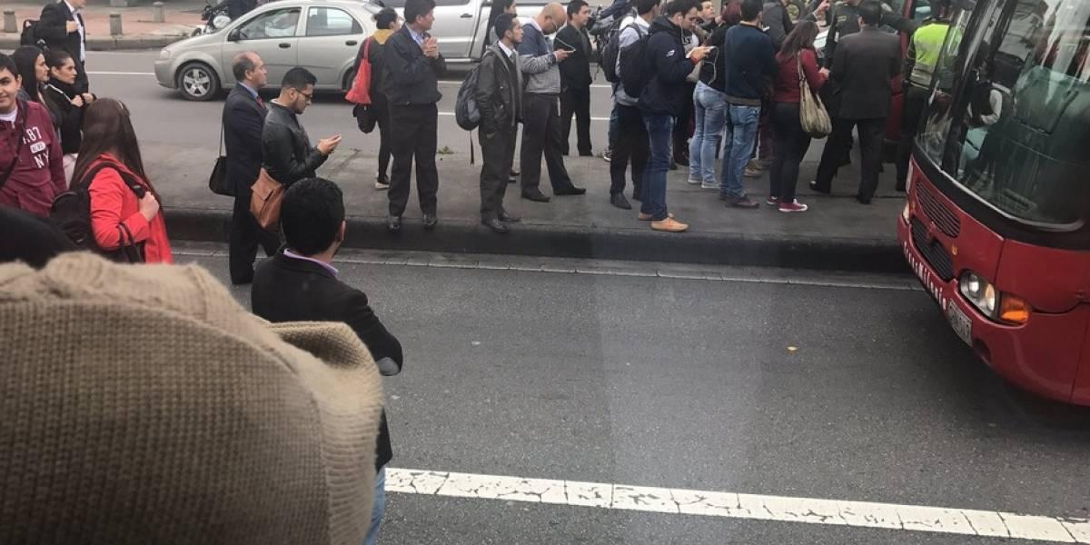 Bloqueos en varios puntos de TransMilenio