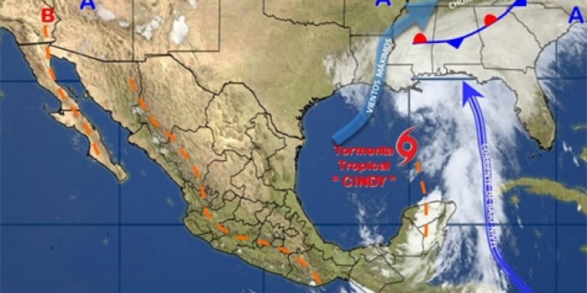 Tormenta tropical Cindy provocará lluvias en gran parte del país