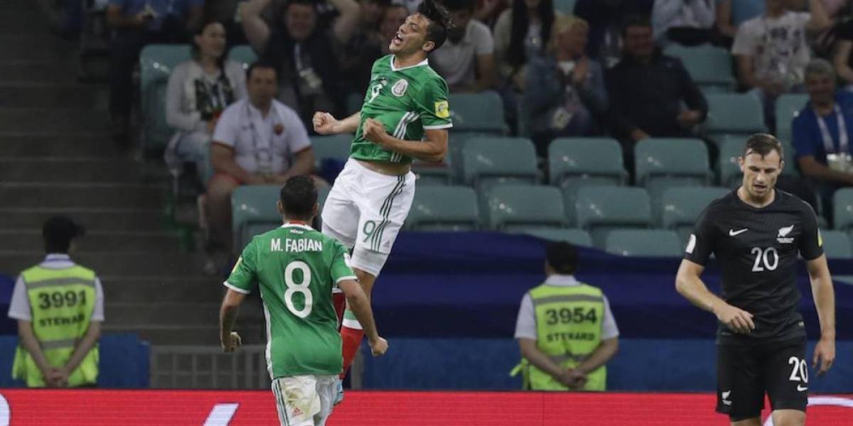 México se impone 2-1 a Nueva Zelanda en Confederaciones