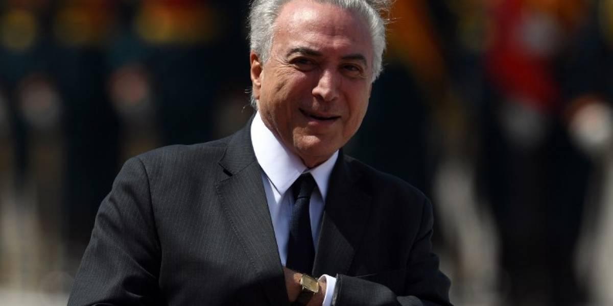 Policía brasileña afirma que tiene pruebas que Temer recibe sobornos