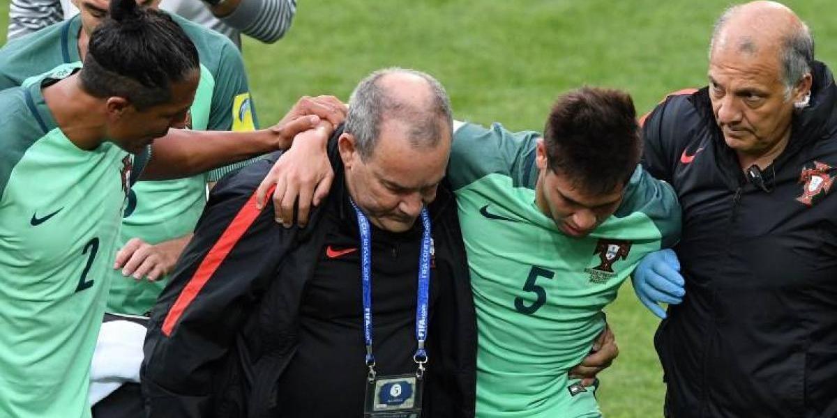 Defensa de Portugal jugaba fracturado hace tres meses: se perderá el resto de la Confederaciones