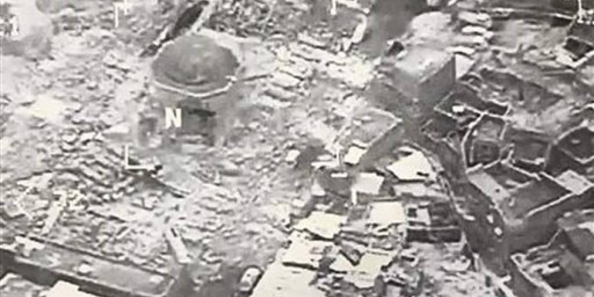 Estado Islámico destruye mezquita histórica en Mosul