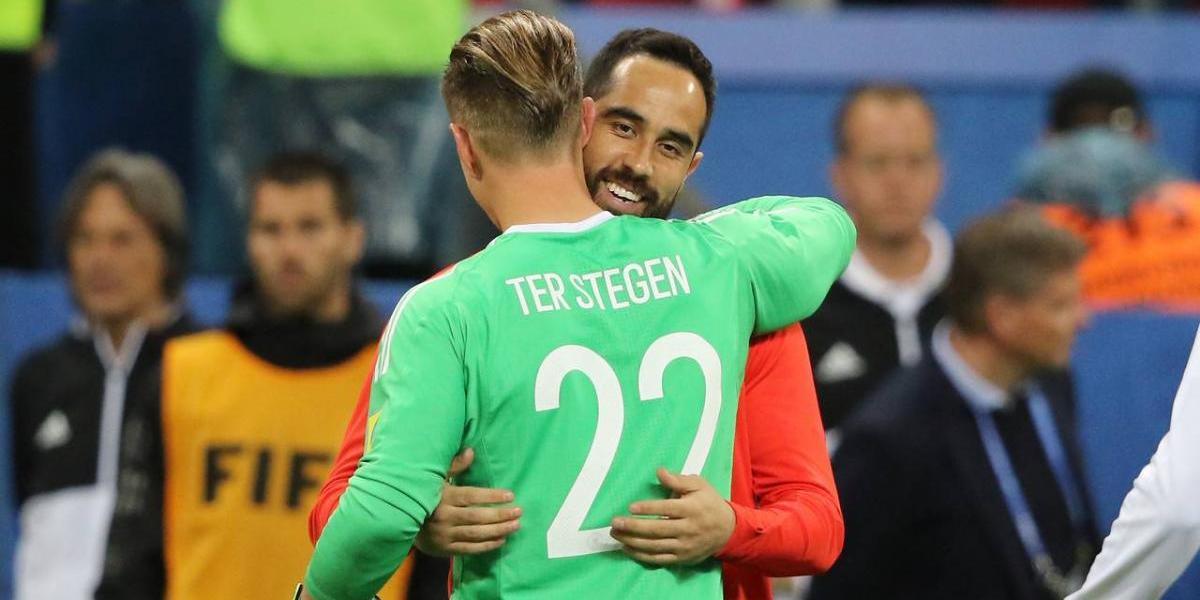 """Ter Stegen y su reencuentro con Bravo: """"Fue muy bueno verlo, pero una pena que no jugara"""""""