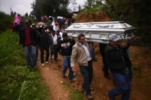 Féretros de fallecidos de la familia García Carrillo