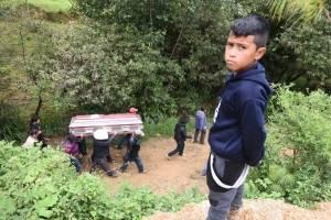 Sepelio de integrantes de la familia García Carrillo en Huehuetenango